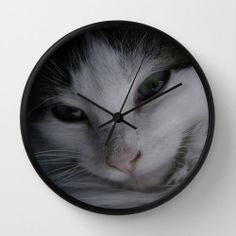 #Kitten #Feline Wall #Clock White Black Room #Decor by #PhotographybyLadybug, $50.00