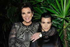 TV personalities Kris Jenner (L) and Kourtney Kardashian attend Opening Ceremony and Calvin Klein Jeans' celebration launch of the #mycalvins Denim Series with special guest Kendall Jenner at Chateau Marmont on April 23, 2015 in Los Angeles, California.