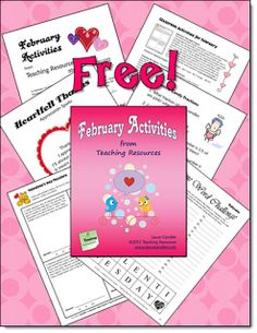Corkboard Connections: Upper Elementary Seasonal Resources including a link to this 25-page free February Activities pack!
