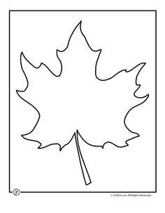 Leaf Template Printables Maple Leaf Template 2 – Craft Jr.