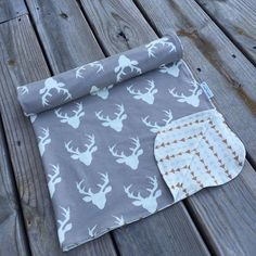 Antlers and Arrows Baby Blanket Woodland Theme by WatchMyDive