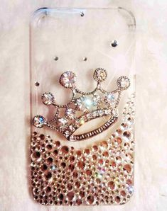 iPhone 4 case  iphone 4s case bling luxury iphone case with bling crown! luxury! by iPhoneCasesFancylucy, $20.98