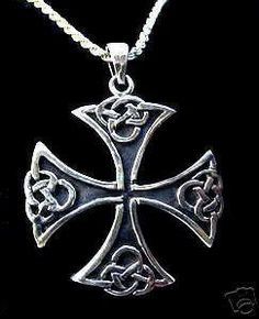 sterling silver celtic maltese knot cross charm pendant Real Sterling silver 925 pendant Charm jewelry  find this item at https://www.etsy.com/shop/princeofdiamonds