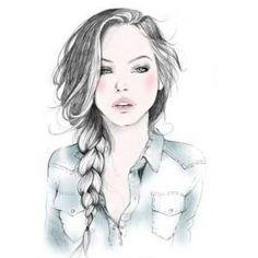 girl sketch, eyewear fashion illustration ima draw this Art And Illustration, Drawing Sketches, Art Drawings, Pencil Drawings, Drawing Faces, Sketch Art, Hipster Drawings, Drawing Ideas, Drawing Drawing