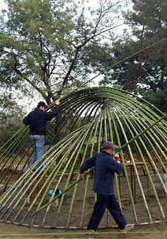 Natural Architecture, According to Humans - GoldINT Natural Architecture, Bamboo Architecture, Concept Architecture, Sustainable Architecture, Architecture Design, Bamboo Art, Bamboo Crafts, Bamboo Garden, Bamboo Building