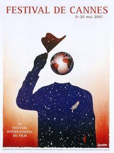 La 54 ème édition du Festival de Cannes, en 2001 Auteur de l'affiche : Michel Granger. Palme d'Or en 2001: La chambre du fils de Nanni Moretti