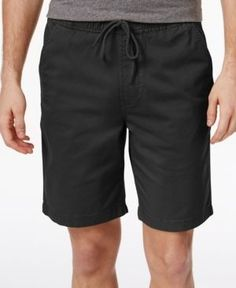 American Rag Men's Pull-On Cotton Shorts, Only At Macy's  - Black XL