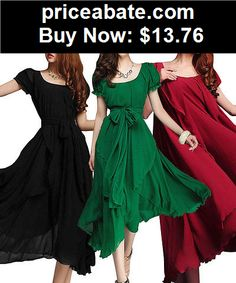 Sexy-Women-Dresses: New Sexy Women Dress Summer Long Dress Evening Party Beach Dresses Chiffon Dress - BUY IT NOW ONLY $13.76