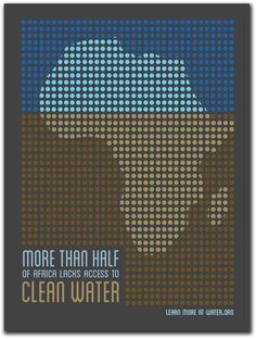 Global Issues Poster: Access to Water by Laura J. Wilkens, via Behance