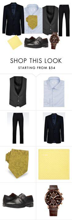 """OOTDW-4M91"" by katie-xdress-morgan ❤ liked on Polyvore featuring Corneliani, ETON, Armani Collezioni, Forzieri, Robert Wayne, BOSS Hugo Boss, men's fashion and menswear"