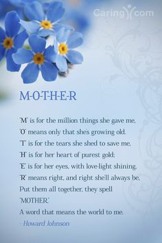 A poem for your Mother's Day