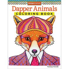 Design Originals Dapper Animals Creative Colouring Book Coloring In For Grown Ups