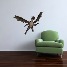 Large Dragon Fantasy Wall Decal by WilsonGraphics on Etsy, $32.00