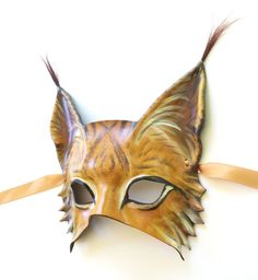 Lynx Leather Mask wildcat cat ear tufts