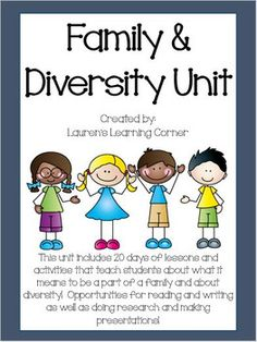 It can be a challenge to find time in the day to teach social studies, let alone prep for it! This Interdisciplinary Family & Diversity Unit is designed so you can teach it during your ELA block! There are 20 days of lesson plans including:- Read Alouds- Writing Activities- Cooperative Learning Opportunities - Discussion questions - Projects - Research and Presentation Opportunities and much more!Minimal prep is required for this unit plan!