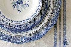 English Ironstone Baltic and Liberty Blue-I own the Liberty Blue