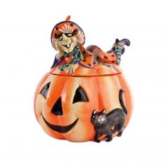 A fun little cookie jar - or maybe a spot to stash the Halloween loot?