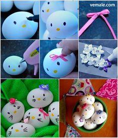 Huevos pascua Hello Kitty, actividades pascua niños