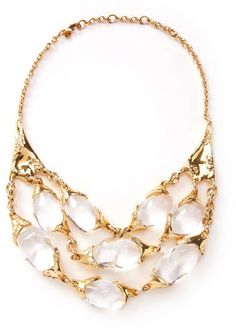 Alexis Bittar Gold Large 3strand Texture Necklace