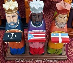 Santos de Palo | Saints Puerto Rico, Puerto Rican Coffee, Kings Day, The Birth Of Christ, Three Wise Men, Nativity, Gallery, Artist, Woodcarving