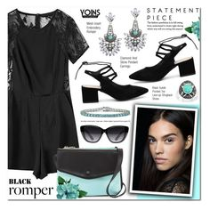 """""""Yoins 12 - Romper"""" by anyasdesigns ❤ liked on Polyvore featuring Neiman Marcus, Elizabeth and James and Palm Beach Jewelry"""