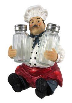 BUON GUSTO Fat Chef Salt & Pepper Shaker Set