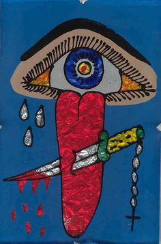 Protection from evil eye/gossip-Santeria. One of my favorite paintings.