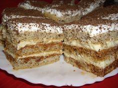 Camy Sweet: Prajitura ''PETRE ROMAN'' Romanian Desserts, French Pastries, Tiramisu, Sweet Treats, Caramel, Cooking Recipes, Favorite Recipes, Sweets, Diet