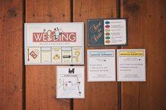 monopoly themed wedding invitation and paperie