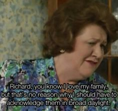 BBC Classic: Keeping Up Appearances. This show was funny shit. British Tv Comedies, British Comedy, English Comedy, I Love To Laugh, Make Me Smile, Detective, Keeping Up Appearances, British Humor, Comedy Tv