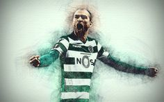 Bas Dost, 4k, Desktop Pictures, Colorful Wallpaper, Download, Football, Drawing, Artwork, Sports