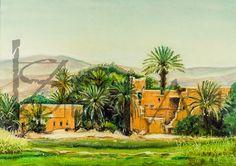 Moroccan Kasbah. Digital image of original pastel от ArtViStrel