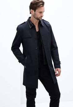 Danier Official Store, Parsons water-repellant carcoat, midnight, Men, 202050004