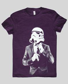 d457027450c Items similar to Storm Trooper Smarttrooper - American Apparel Womens t  shirt ( Star Wars   Storm trooper womens t shirt ) on Etsy