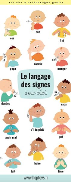 A sign language is a complete and comprehensive language of its own. Sign language also has a set of grammar rules to go by. This language is mainly used by p Bebe Video, Sign Language Interpreter, Baby Sign Language, Childbirth Education, Thing 1, Elementary Education, Signs, Montessori, Baby Toys