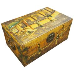 Old Luggage, Luggage Bags, Georgian, Storage Chest, Trunks, Decorative Boxes, Antiques, Travel, Character