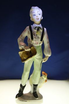 Farmer Gay Cowboy Rooster Figure Kitsch Japan Ceramic Statue Mid Century Pride | eBay