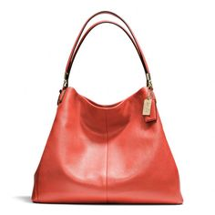 The Madison Phoebe Shoulder Bag In Leather from Coach - Vermillion....mine arrived today, and the shade is much redder in RL....  Love it!