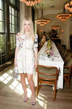 Dakota Fanning wore Alexander McQueen - W Magazine It girl luncheon, New York – September 7 2016  | New York Fashion Week Front Row And Parties | British Vogue