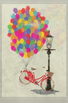bike with ballons