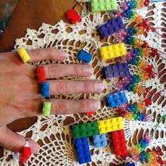 Lego necklaces and rings