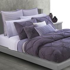 Purple Tufted Bedding