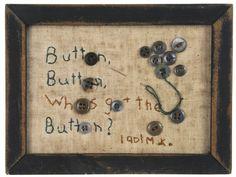 Folk art button picture, 1901