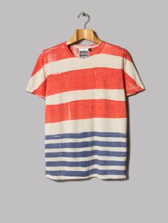 Jungmaven Baja 7oz Vintage Tee (Red / White / Blue)
