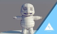 MODELADO 3D squirtle by R2 STUDIO  #modelling #topology #squirtle #pokemon