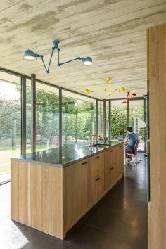 Woning opent naar de tuin met facelift van beton en glas   Gentcement