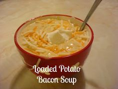 The best comfort food on a cold night (or warm night.or even morning if you want) in our house is always a thick hearty soup. This Loaded Potato Bacon Soup fits the bill! Soup Recipes, Great Recipes, Cooking Recipes, Favorite Recipes, Recipies, Chowder Recipes, Paleo Recipes, Delicious Recipes, Easy Recipes