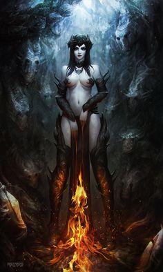 Fire Witch by Polyraspad on deviantART via PinCG.com