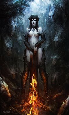Fire Witch by Polyraspad on deviantART via PinCG.com