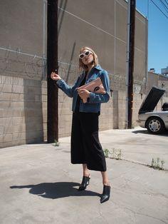 Chloé Denim & Statement Earrings — TAYLR ANNE